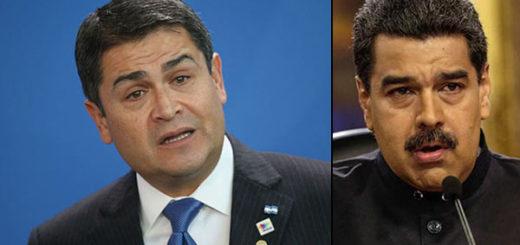 Juan Orlando Hernández, presidente de Honduras / Nicolás Maduro | Composición Notitotal