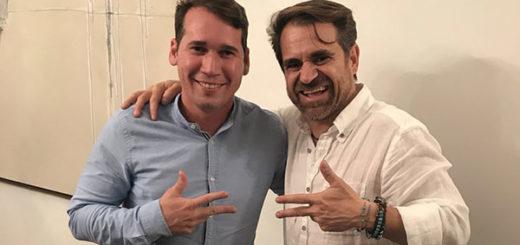 Rafael Lacava y el candidato Alejandro Marvez | Foto: @rafaellacava10