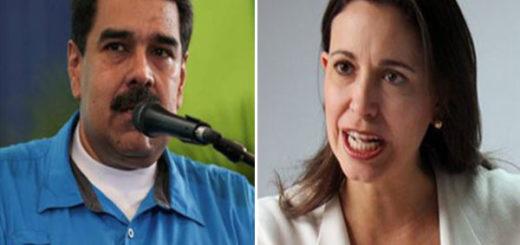 María Corina Machado desmintió a Maduro | Composición: NotiTotal