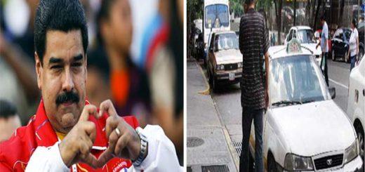 Maduro se consiguió con un taxista accidentado y esto fue lo que hizo | Composición Notitotal