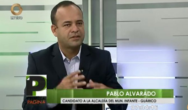 Pablo Alvarado, candidato del PSUV | Captura de video