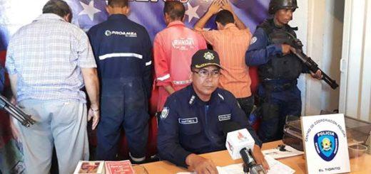 Detenidos por robar material estratégico | Foto: El Vistazo