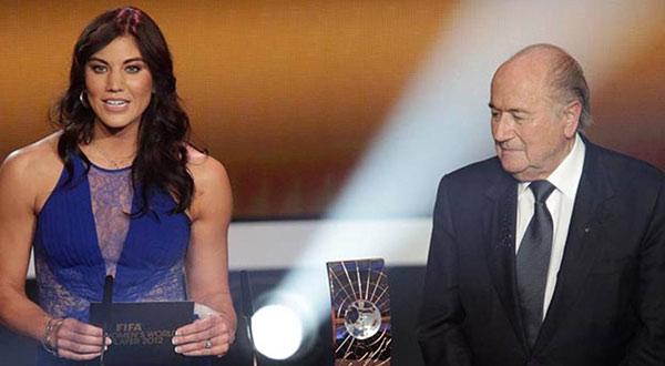 Portera Hope Solo acusó al ex presidente de la FIFA, de abuso sexual | Foto: Argencias