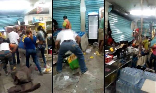 Saqueo de abasto en Yaracuy   Capturas de video