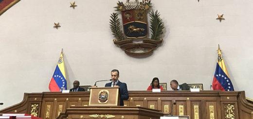 Tareck El Aissami presenta proyecto de presupuesto ante la ANC | Foto: Twitter