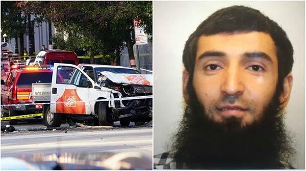 Terrorista del ataque en Nueva York | Imagen: Twitter