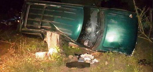 Secuestrador perdió el control del vehículo cuando huía de la policía | Foto: La Nación