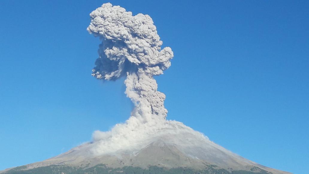 Volcán Popocatépetl en México | Foto: Twitter