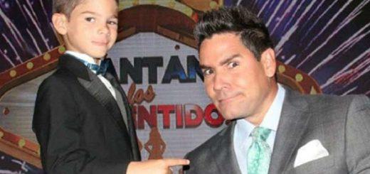Winston Vallenilla y su hijo | Foto: Archivo