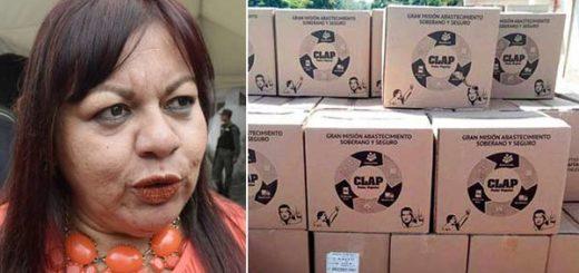 Concejal del Psuv sacaba comida de las bolsas Clap