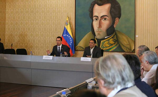 Canciller venezolano, Jorge Arreaza   Foto: @CancilleriaVE