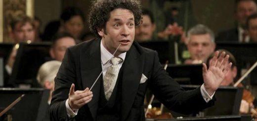 Gustavo Dudamel junto a la Filarmónica |Foto cortesía
