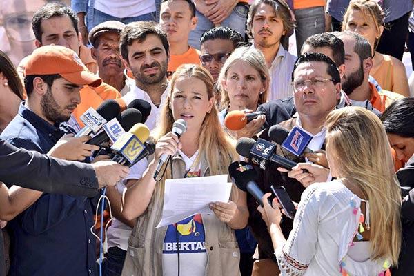 Lilian Tintori en rueda de prensa |Foto: Twitter