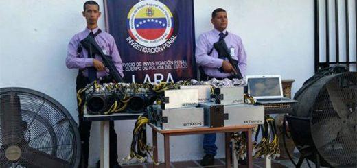 Encuentran 21 máquinas minadoras de criptomonedas en un galpón | Foto: Prensa PoliLara