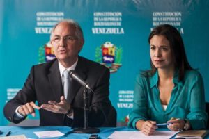 Antonio Ledezma y María Corina Machado |Foto cortesía