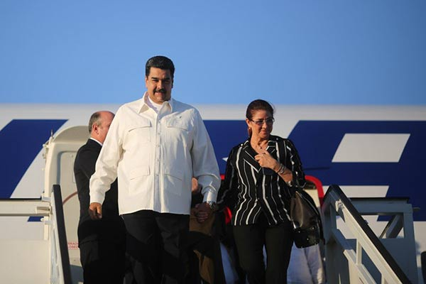Nicolás Maduro y Cilia Flores regresan al país |Foto: Prensa presidencial