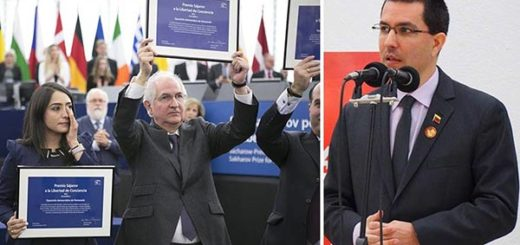 Jorge Arreaza criticó que la oposición venezolana recibiera el Premio Sajárov |Composición: Notitotal