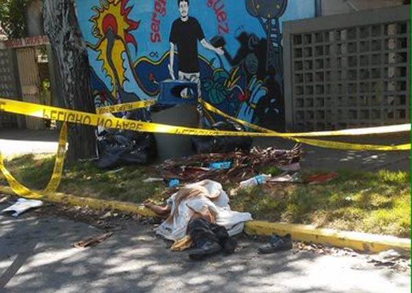 Cadáver hallado en la UCV  Foto cortesía