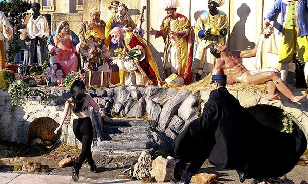 Feminista intentó robar niño Jesús | Foto: Cortesía