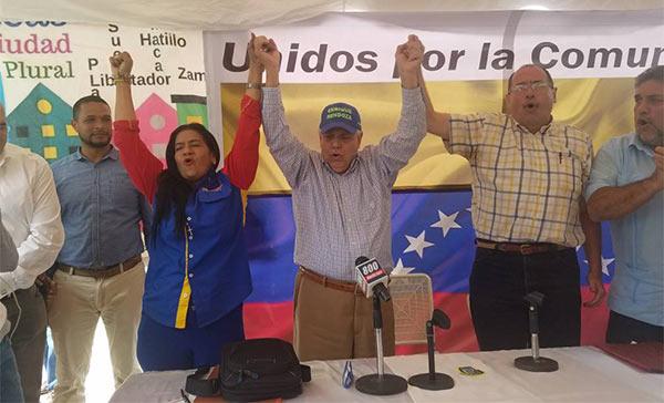 Candidatos a la Alcaldía de Sucre declinan a favor de Enrique Mendoza | Foto: Cortesía