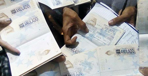 Pasaportes anulados | Foto: @milmarique
