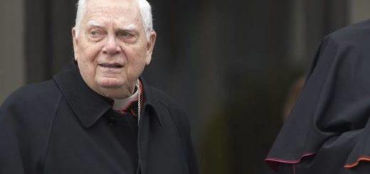 Muere el cardenal Bernard Law implicado en escándalo de pedofilia en EEUU | Foto cortesía