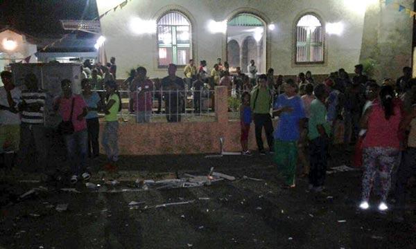Conductor ebrio arrolló a multitud en Bolívar | Foto: Twitter
