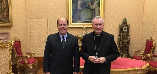 Julio Borges y el cardenal Pietro Parolín |Foto cortesía