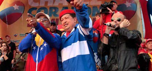 Hany Kauam junto a Hugo Chávez | Foto: Archivo