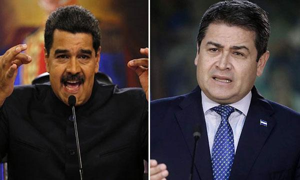 Nicolás Maduro / Juan Orlando Hernández, presidente de Honduras | Composición