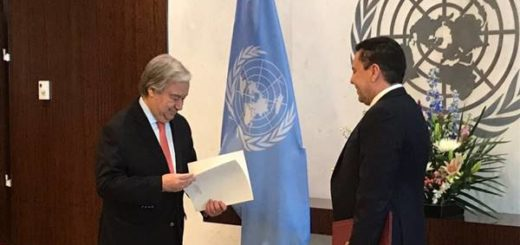Moncada presentó sus credenciales como nuevo embajador de Venezuela en la ONU | Foto: @SMoncada_VEN