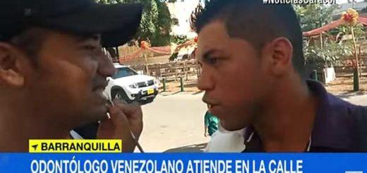 Odontólogo venezolano en las calles de Colombia | Foto: Captura de video
