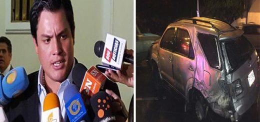 Diputado Paparoni se volcó en su camioneta intentando huir de atentado en su contra | Composición Notitotal