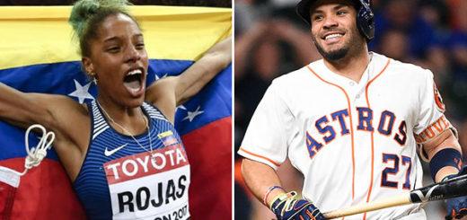 Yulimar Rojas y José Altuve se coronaron nuevamente como deportistas del año | Composición: NotiTotal