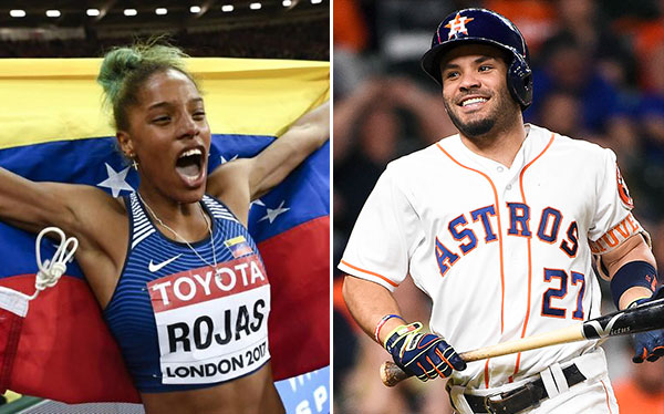 Yulimar Rojas y José Altuve se coronaron nuevamente como deportistas del año   Composición: NotiTotal