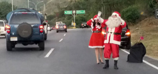 San Nicolás en la autopista Bocayá, Caracas | Foto: Twitter