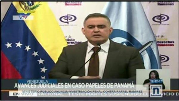 Tarek William Saab, Fiscal General encargado | Captura de video