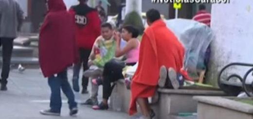 Parque de Colombia es un 'hotel al aire libre' para venezolanos | Captura de video