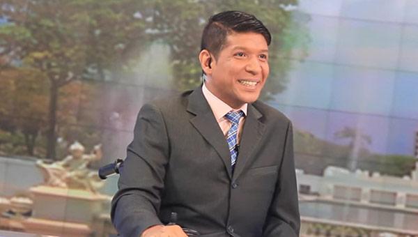 Periodista de VTV, Juan Carlos Mora   Foto: @sntpvenezuela
