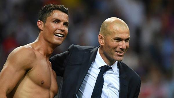 Cristiano Ronaldo y Zinedine Zidane  Foto cortesía