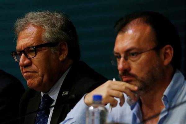 Videgaray reafirma a Almagro su compromiso con la OEA en la crisis venezolana | Foto: Reuters