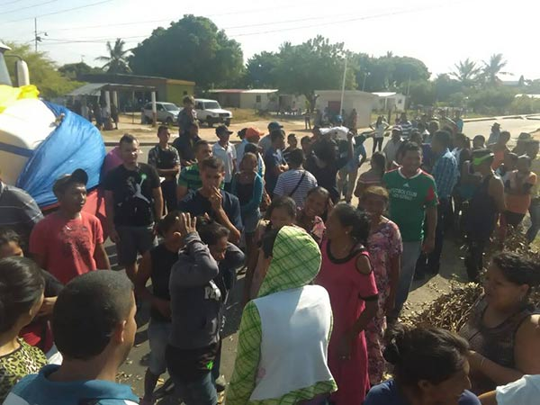 Protesta en Machiques, Zulia  Foto: Panorama