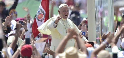 Papa Francisco durante su visita por Perú |Foto cortesía