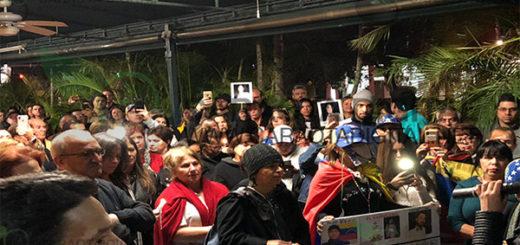 Venezolanos en el exilio rindieron honores a Óscar Pérez |Foto: Caraota Digital