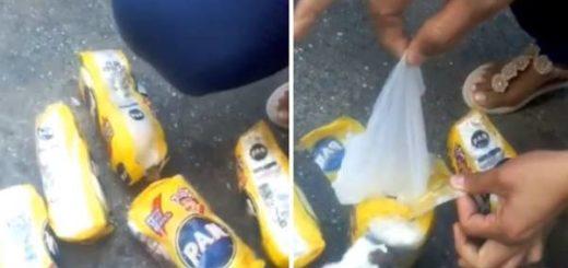 Bachaqueros estafan a compradores vendiéndoles harina PAN llena de arena, bolsas y papel | Composición: Maduradas