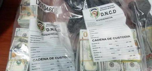 Decomisan 500 mil dólares a un venezolano y dos dominicanos en Santo Domingo | Foto: Listin Diario
