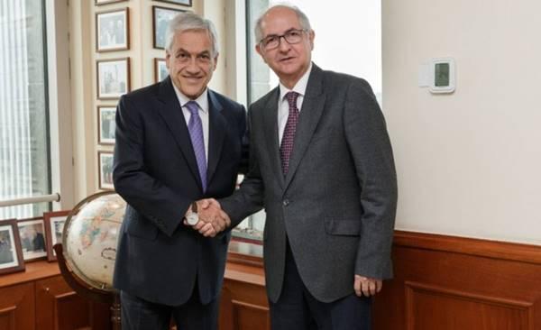 Ledezma pide a Piñera la ayuda de Chile para enfrentar a Maduro | Foto: latercera.com