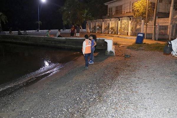 El mar se retiró en   Guatemala  Foto cortesía