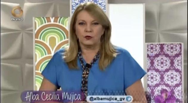 Periodista de Globovisión, Alba Cecilia Mujica | Captura de video