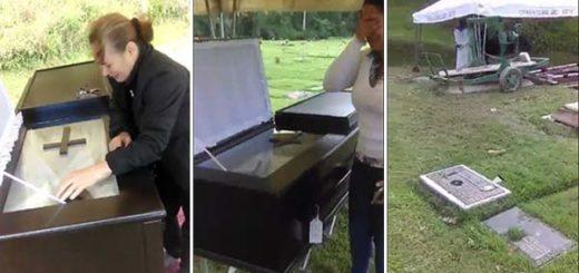 Entierro de los asesinados en El Junquito | Captura de video